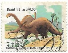 Selo Dinossauro Saurópode