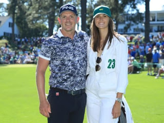 Matt Wallace With His Girlfriend Chelsie Joce At The Masters