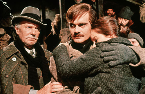 Ralph Richardson, Omar Sharif and Geraldine Chaplin