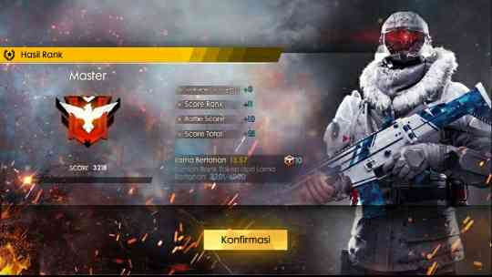 Tips Cara Cepat Push Rank Ke Master di Game Garena Free Fire