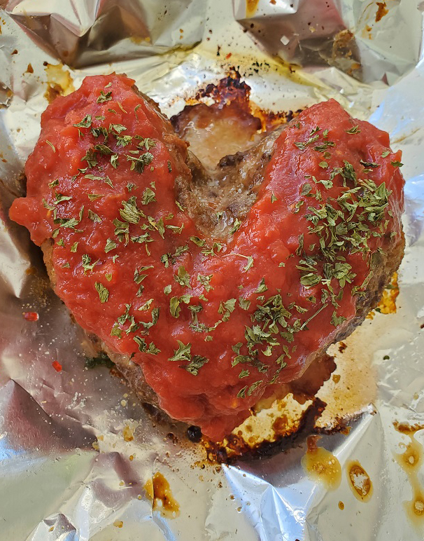 this is a heart shaped meatloaf