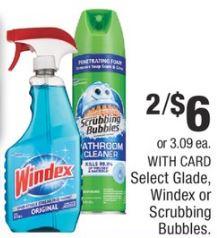 Scrubbing Bubbles & Windex CVS DEAL