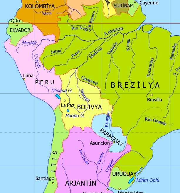 Peru Siyasi Haritası