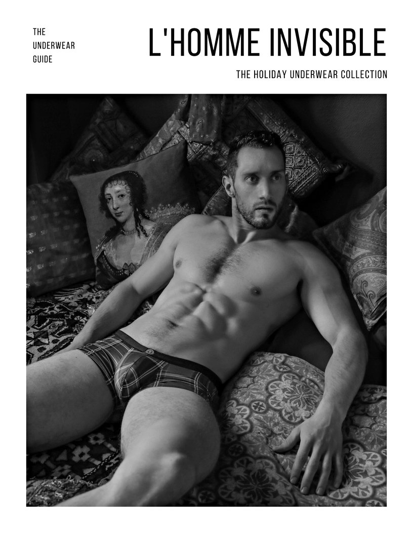 25424f315668b5 French label L'Homme Invisible revisits plaid underwear for men with the  release of a capsule collection called Scott. The Scott line comprises  briefs, ...
