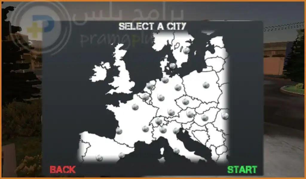 خريطة لعبة يورو تراك