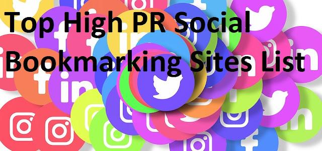 Top High PR Social Bookmarking Sites List