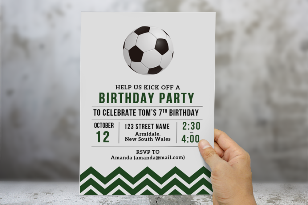free soccer birthday card template for ms word