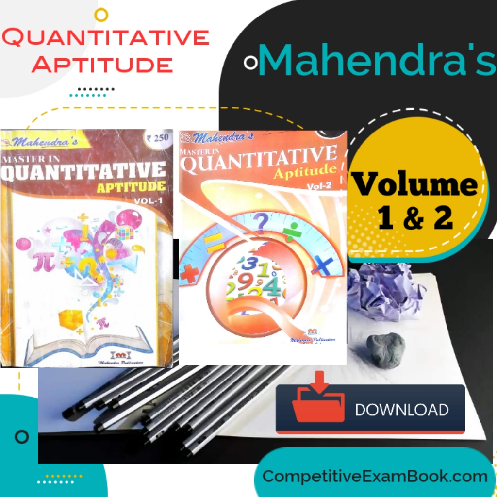 Mahendra's Quantitative Aptitude (Vol-1 & 2) -Download Free eBook