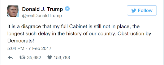 THREE LIES IN ONE TWEET ... A NEW TRUMP RECORD?