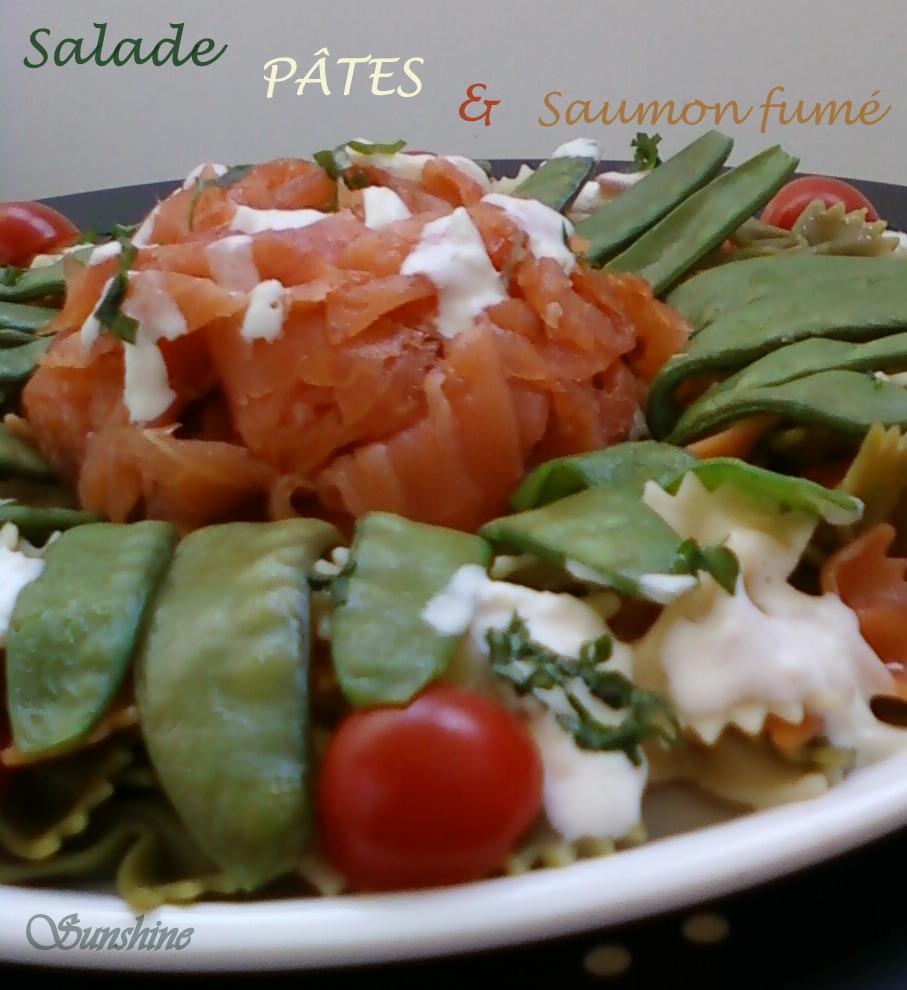 Recette De Poisson: Salade de Pates au Saumon fumé
