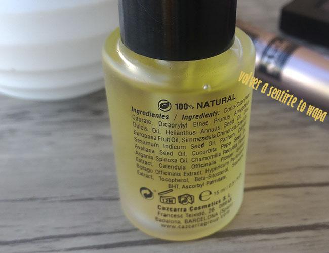 Colección Raw Luxure de Ten Image, producto Pure Oil Essential Primer para el rostro