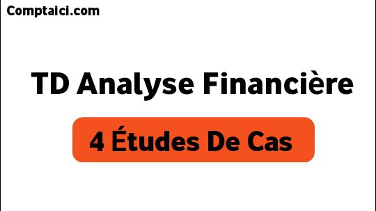 TD corrigé d'analyse financière  4 cas