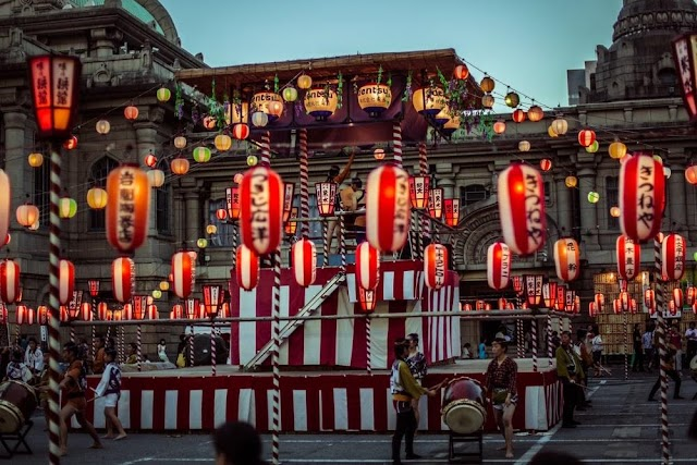 Unique thousand candles lit Japan in the Ghost Festival