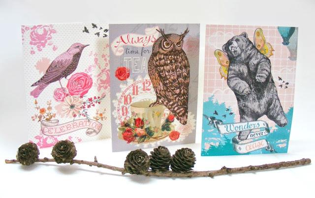 greeting cards, mixed media, Jenny Blair