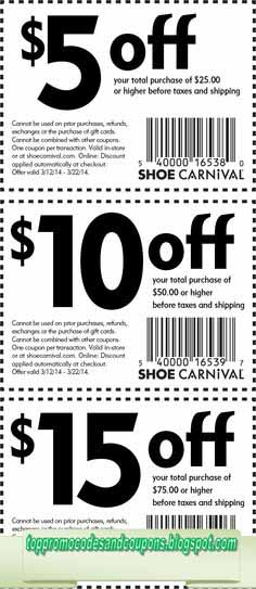 picture about Shoe Carnival Printable Coupons known as Free of charge Promo Codes and Discount codes 2019: Shoe Carnival Discount coupons