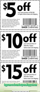 Free Printable Shoe Carnival Coupons