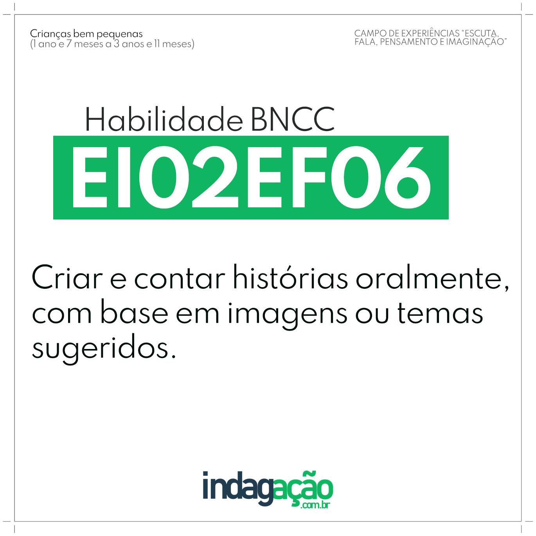 Habilidade EI02EF06 BNCC