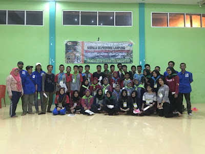 Siswa Pecinta Alam Lampung Ikuti Latihan Gabungan Orienteering dan Rock Climbing