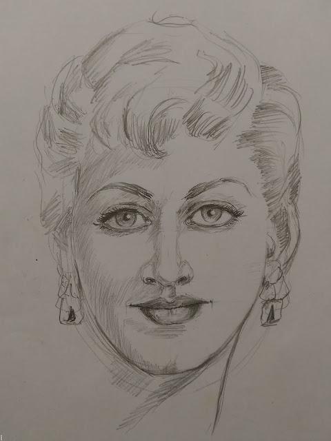 pencil sketch a woman face