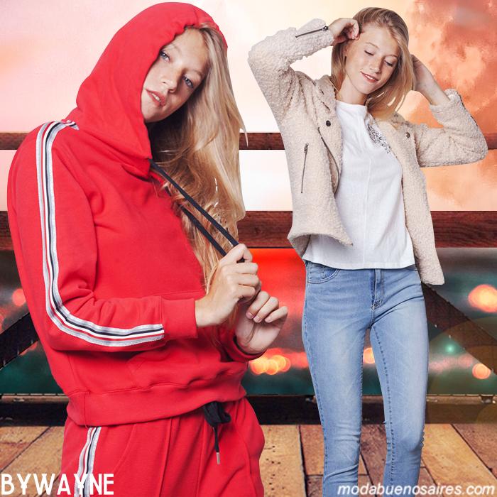 Sporty juvenil y urbano moda mujer otoño invierno 2019.