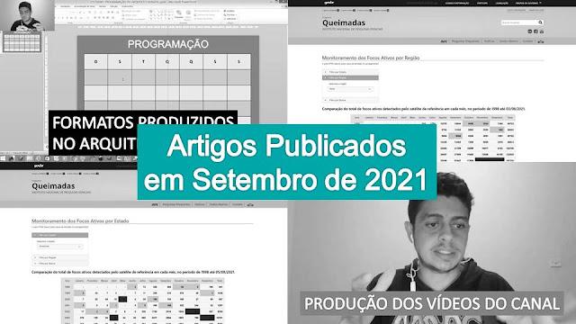 Artigos Publicados em Setembro de 2021