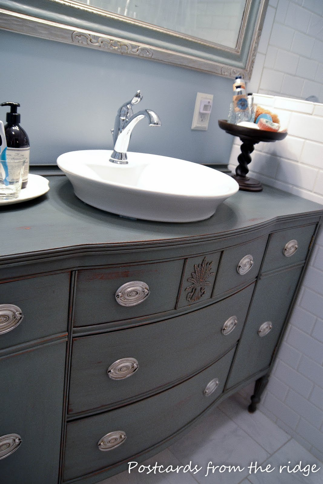 How to Make a Bathroom Vanity from a Piece of Furniture Postcards from the Ridge