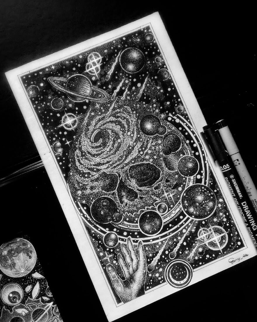 07-The-Universe-s-Alchemist-G-A-Yuangga-Fineliner-Stippling-Drawings-www-designstack-co