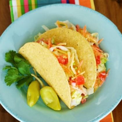 Crunchy Garden Salad Tacos