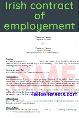 Irish contracts of employment