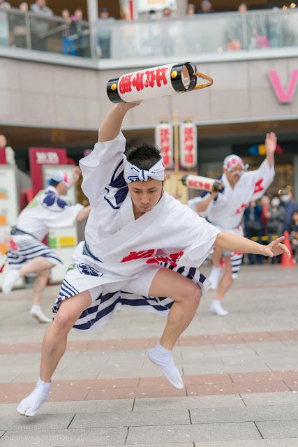 せいせき桜まつり、江戸っ子連の男踊りの写真