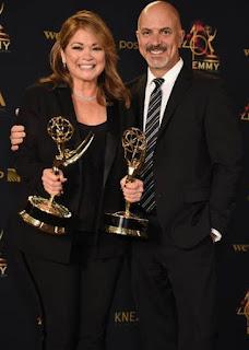 Tom Vitale & his wife Valerie Bertinelli with award