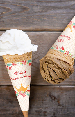 customized ice cream cone wrapper