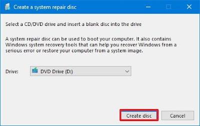 Cara membuat system repair disc di windows  Cara membuat system repair disc di windows 10