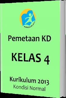 Pemetaan KD Kurikulum 2013 Kelas 4 SD/MI, www.gurnulis.id