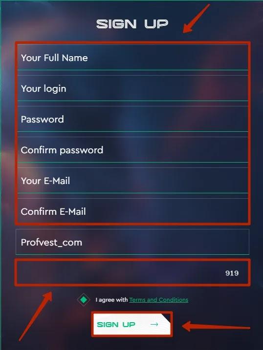 Регистрация в Extrapace 2