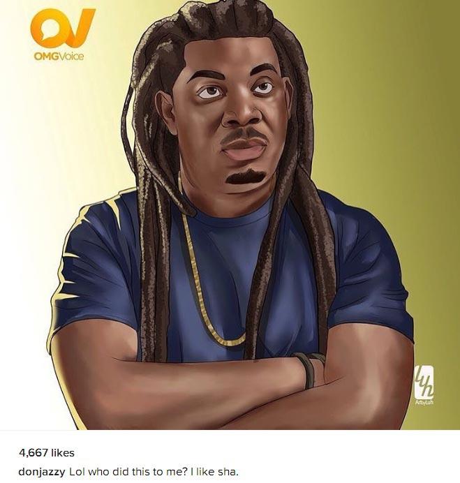 Lol. Don Jazzy rocks Bob Marley dreadlocks