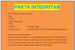 Format Pakta Integritas PPG Dalam Jabatan Tahun 2020