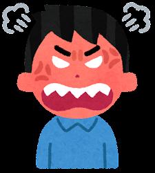 怒る男性のイラスト(段階5)