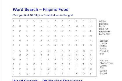 Penrith Filipino Gazette Online: Word Search
