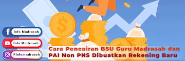 Cara Pencairan BSU Guru Madrasah dan PAI Non PNS Dibuatkan Rekening Baru