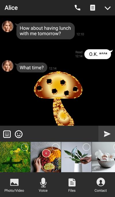 Orange gold mushrooms