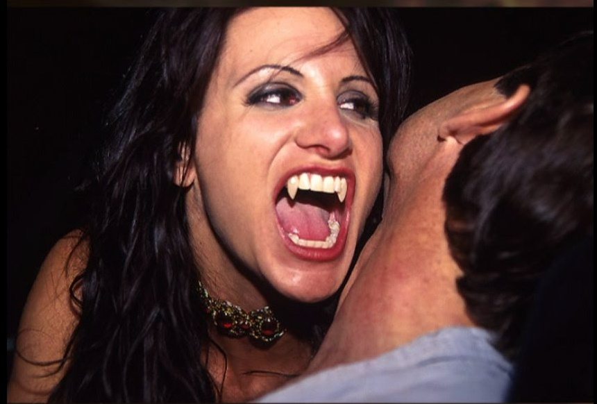Vampire fangs porn