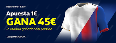 william hill MEGACUOTA Apuesta 1€ Real Madrid gana Betis gana 45€ 13 marzo 2020