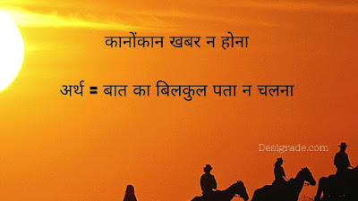 Muhavare in Hindi for Class 5 with Answers and Sentences
