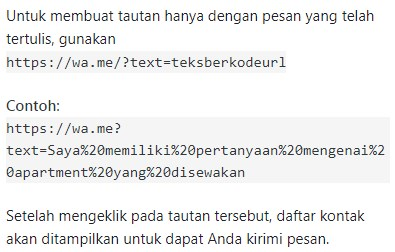 api whatsapp send message