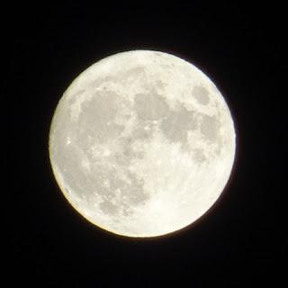 我が家の2階から撮った中秋の名月