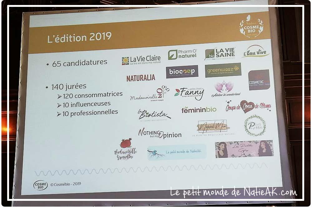 Jurées de l'édition 2019-2020 Trophée Cosmebio