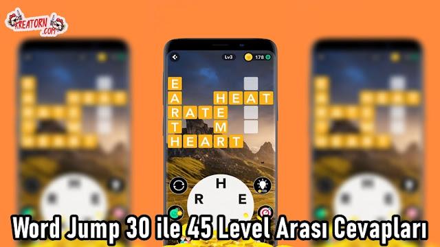 Word Jump 30 ile 45 Level Arasi Cevaplari