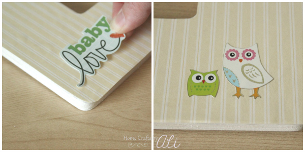 add owl sticker for easy decoration on frame