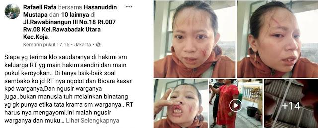 Viral, Karena Tanya Sembako Nur Dipukuli RT, Simak Videonya
